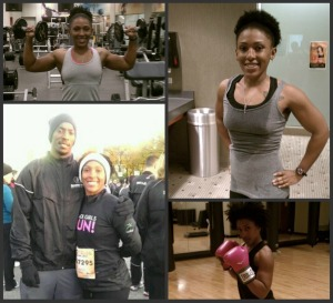 Keep it varied and exciting: weights, cardio day, race day with the hunny, boxing